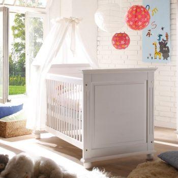 Lit bébé Laurel 70x140 - blanc