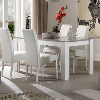Table à manger Modena 160 cm - blanc/béton