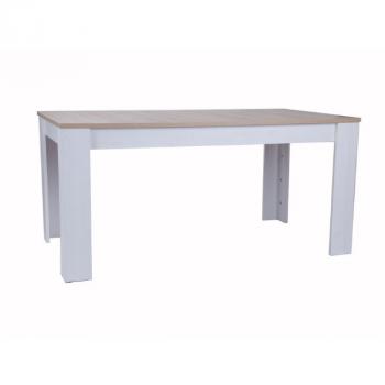 Table à manger Armando 160 - 200x90 - chêne/blanc