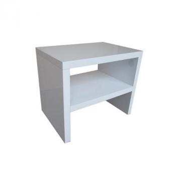 Table de chevet Perrugia 55cm - blanc