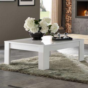 Table basse Modena 100x100 - blanc
