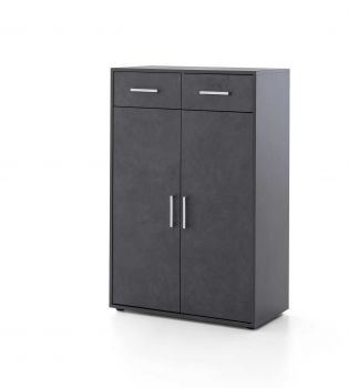 Armoire Maxi-office 2 portes & 2 tiroirs - graphite