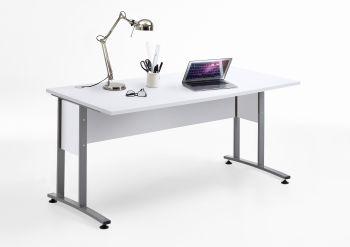 Bureau Gabi 160cm - blanc brillant