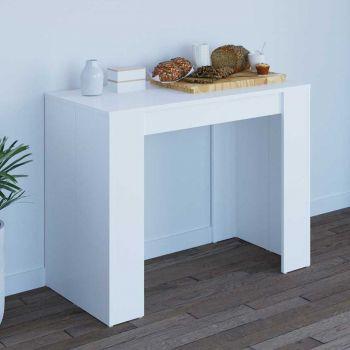 Table à manger extensible Elastic - blanc