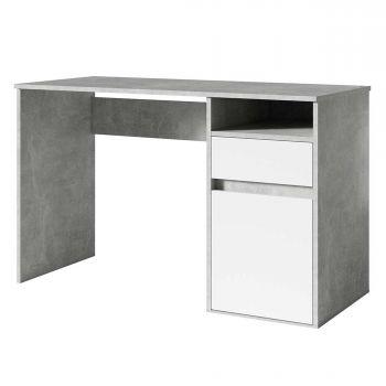 Bureau Soma 120cm - béton/blanc
