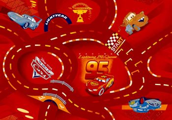 Tapis Cars - World of Cars red