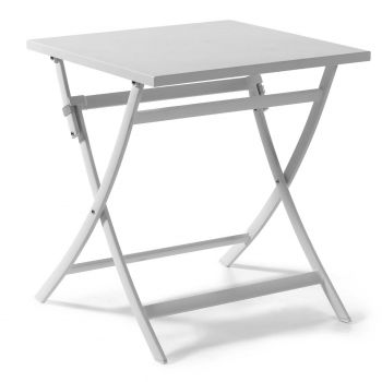 Table de jardin pliable Grasse 70x70 - blanc