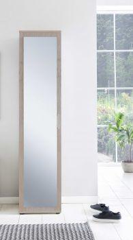 Armoire Hidde avec porte miroir - chêne