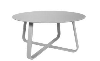 Table de jardin Mandurah ronde - gris