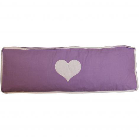 Coussin violet/blanc cœur
