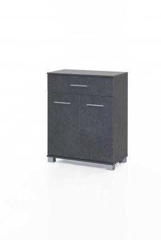 Armoire de salle de bains Kao 1 tiroir & 2 portes - gris graphite