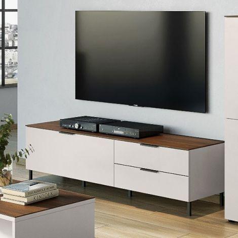 Meuble TV Karsten 164cm - cachemire/noyer