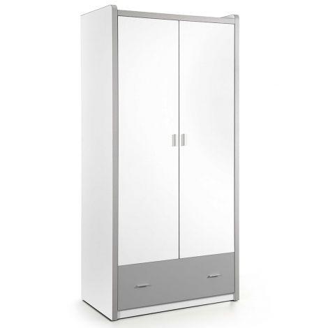 Armoire Bonny 2 portes - gris