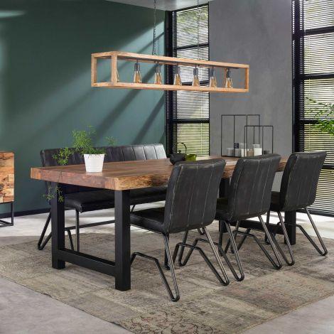 Table à manger Penelope 200x100 industriel - acacia