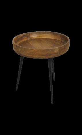 Table d'appoint Ventura ø40 cm - bois de manguier/fer
