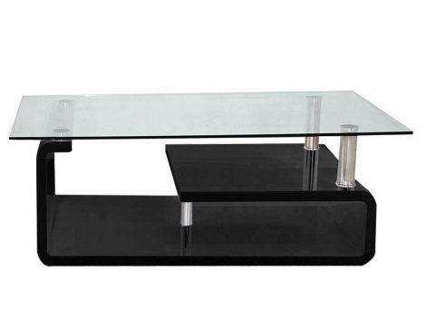Table basse Hilda - noir brillant