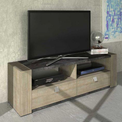Meuble tv Iris 155cm - gris béton