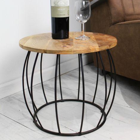 Table d'appoint Crown ø40cm - naturel/noir