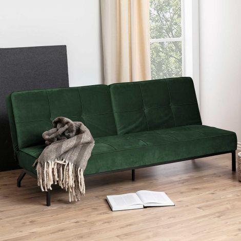 Canapé-lit Giovanni - vert forêt/noir