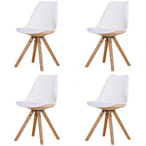 Jeu de 4 chaises Chic - blanc