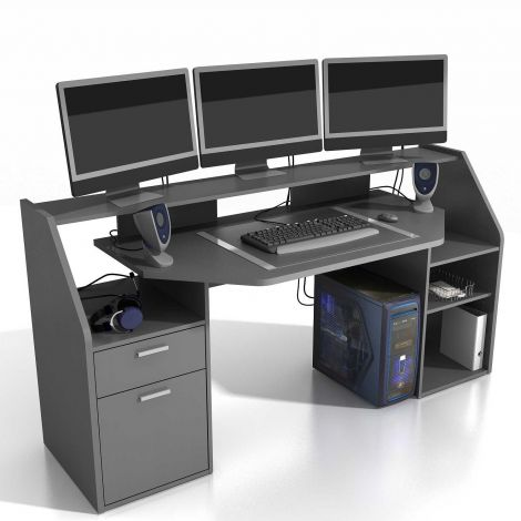 Bureau gamer Force 180cm - anthracite