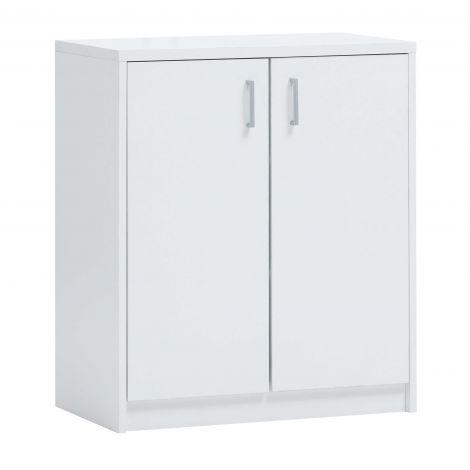Commode Spacio 84cm 2 portes - blanc