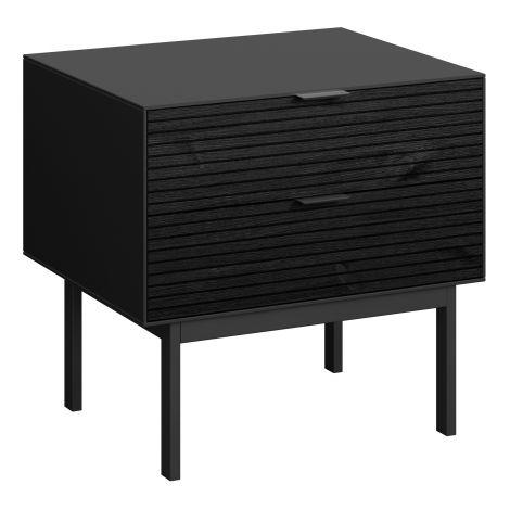Table de chevet Selma 2 tiroirs - noir