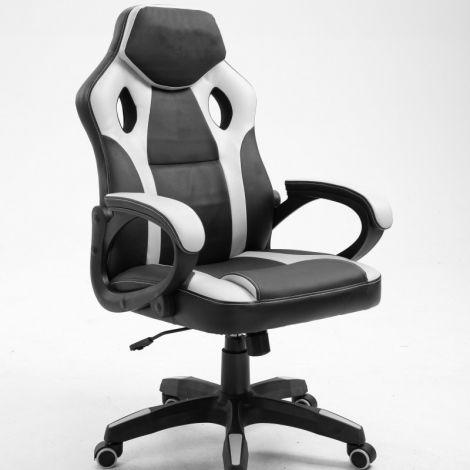 Chaise gamer Matt - noir/blanc