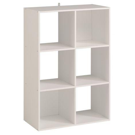 Armoire colonne Cubicub avec 6 niches - blanc