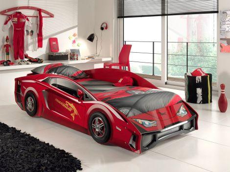 Lit voiture Lambo - rouge