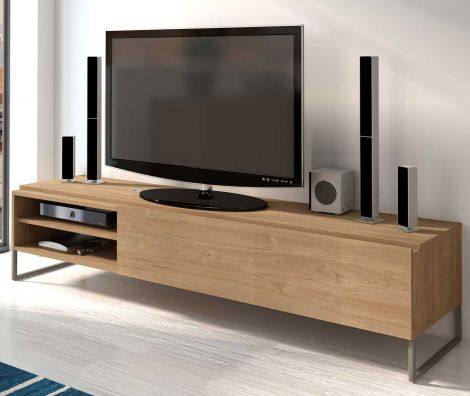 Meuble tv Nomi 185cm - brun