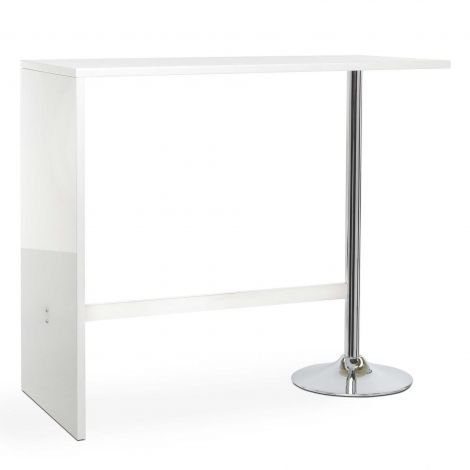 Table de bar Party 120x60 - blanc brillant