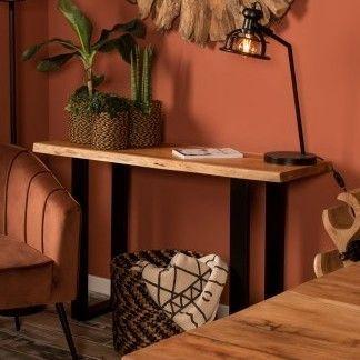 Table d'appoint SoHo 120cm - acacia/fer