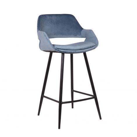 Lot de 2 chaises de bar Erika 65cm - bleu