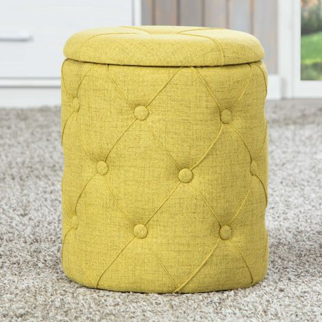 Pouf Yapak - vert jaune