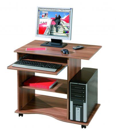 Bureau sur roulettes pour ordinateur Adda - noyer