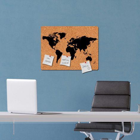 Sticker mural World Map tableau d'affichage