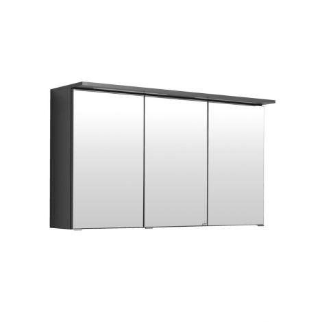 Armoire de toilette Bobbi 120cm modèle 1 3 portes & eclairage LED - graphite