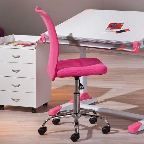 Chaise de bureau Eva - rose