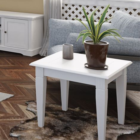 Table d'appoint Verner 60x60 - blanc