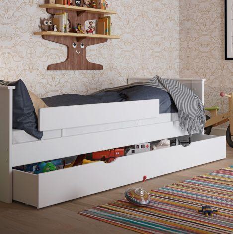 Tiroir de lit Alfie 200cm - blanc
