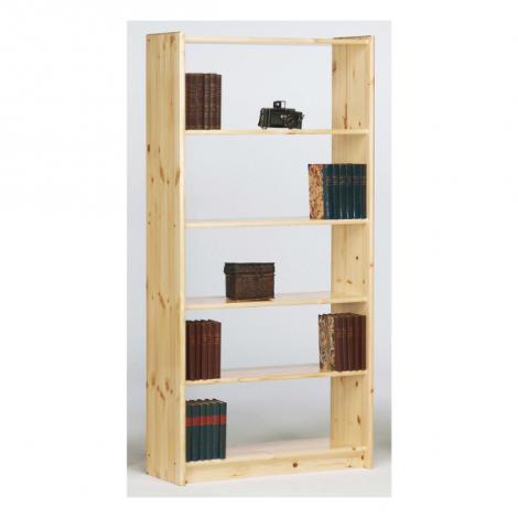 Bibliothèque Olan 85cm avec 4 étagères - nature