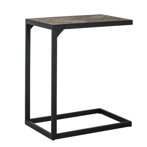 Table d'appoint pour ordinateur Herringbone - chêne/noir