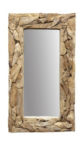 Miroir mural Racine - 160x90 cm - Racine teck