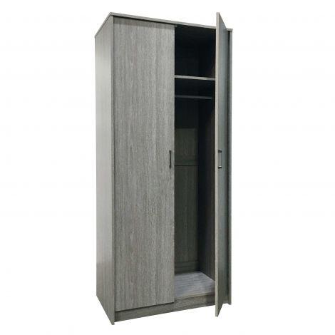 Armoire Ray 80cm avec 2 portes - chêne gris