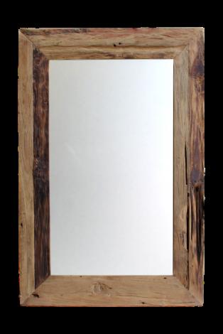 Miroir mural Rustic - 90x70 cm - bois flotté teck