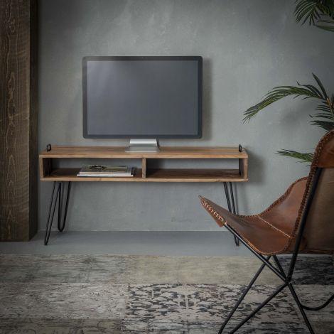 Meuble TV Quadro 110cm - acacia massif