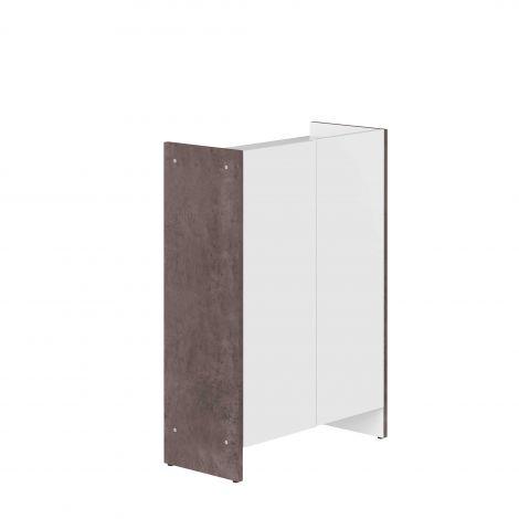 Armoire salle de bains Biarritz - blanc/béton