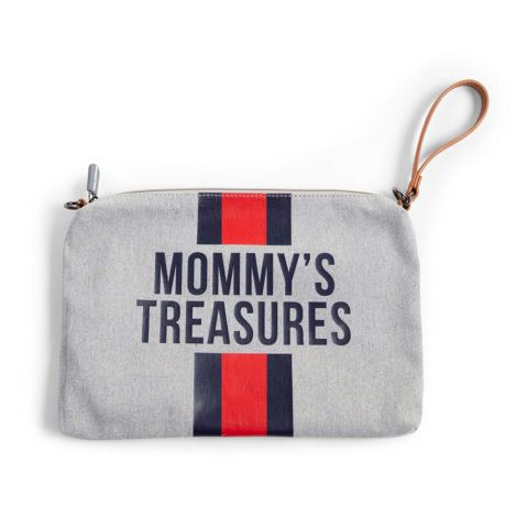 Mommy Clutch avec rayures - gris