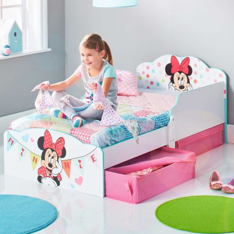 Lit junior Minnie Mouse avec tiroirs